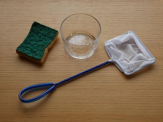 メダカのビンの水換えと掃除に使うセット
